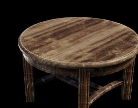 Shabby table Lowpoly 3D model