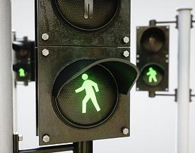 Pedestrian Signaling 3D asset