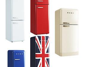 SMEG FAB Refrigerator 3D