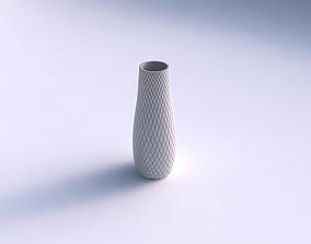 Vase with diagonal grid plates 3D print model