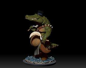 3D printable model crocodile cosplay