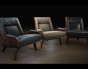 3D model VR / AR ready Soft chair