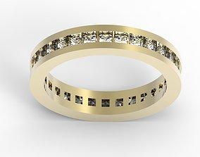 Princess cut diamond etrnity band 3dm stl jcd file