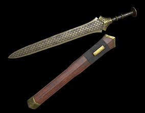 Fantasy Ancient Chinese Sword 3D model