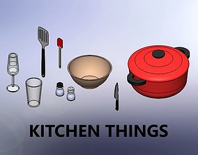 KITCHEN THINGS 3D model realtime
