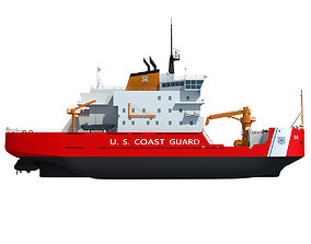 3D watercraft US Coast Guard Icebreaker