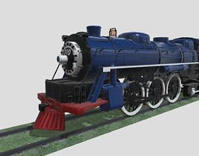 Steam Engine Train Wagon 3D asset game-ready