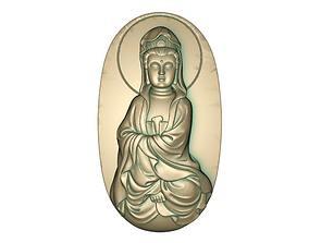 Goddess of Mercy 3D printable model 3D asset low-poly