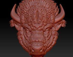 bison head 3D print model