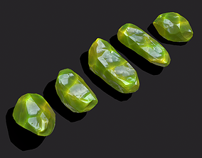 3D asset Medieval Style Jewels Green