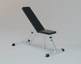 Incline Bench - Gym Equipment 3D asset