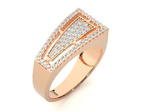 High Jewelry Grooms Gents Mens Cocktail ring 3dm 1