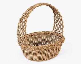 3D Wicker Basket 09 Natural Color