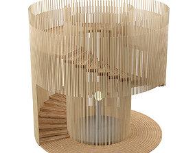 3D model Lighthouse wooden