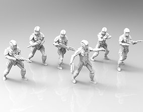 3D print model Ancient Trooper Squad with Carbines and