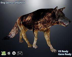 3D asset game-ready Dog German Shepherd