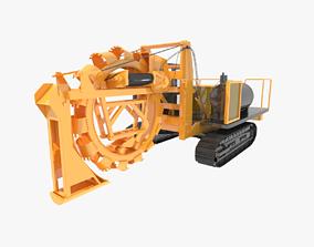 Wolfe Wheel Trencher 3D model