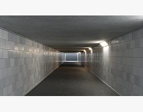 3D model Underground tunnel 03