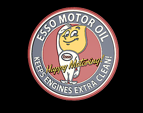 ESSO Motor oil sign 3D print model