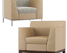 Bianco lounge chair by HBF studio 3D model