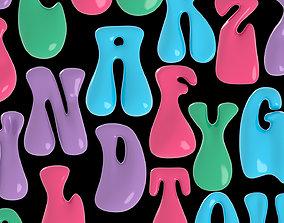 3D printable model Letter alphabet all capital letters