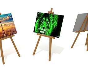 3d Easel Painting