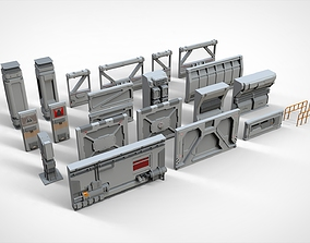 sci-fi Architecture kitbash 4 3D