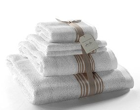 Set of Towels Grand Hotel Lin 3D