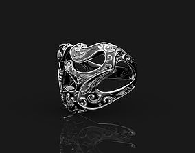 3D print model jewellery Ring Skull