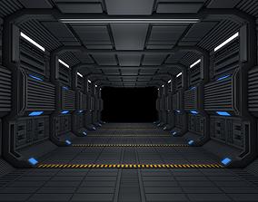 scifi Sci Fi Corridor 3D model