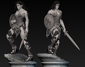 Wonder Woman Statue warrior 3D print model
