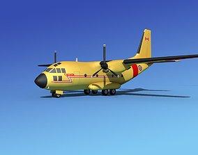 Alenia C-27A Spartan RCAF 3D model rigged