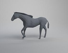 3D print model low poly horse