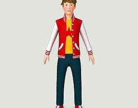 Teenager boy 3D model