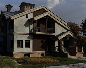 Two-storey country house 3D model building