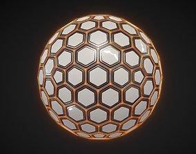 Sci-fi Hexa Sphere 3D