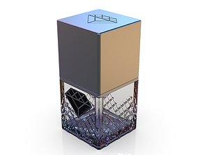 Diamond cosmetics bottle - 42x42 mm - V - 45 mL 3D