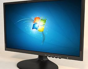 3D model computer monitor