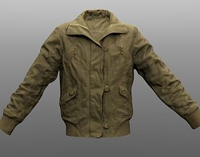 game-ready Jacket Closed low poly 3D model