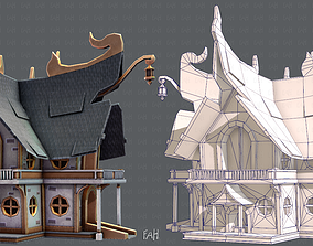 House Cartoon V04 3D model low-poly
