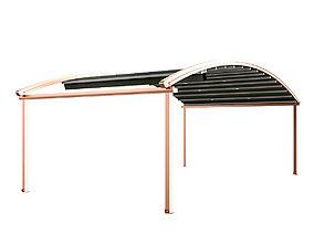 3D model Motorized Pergola 4 copper matte