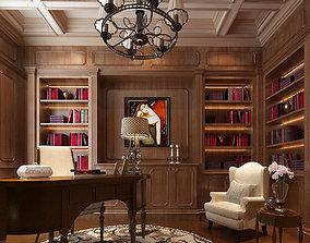 Study Room Interior 01 3D