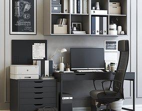 Office workplace 7 3D model