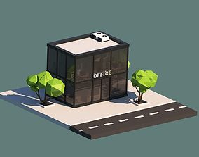 3D model Cartoon Low Poly Office Building