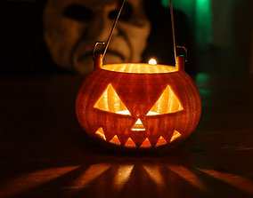 3D print model Halloween pumpkin for candle