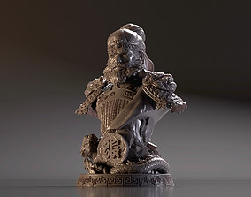3D printable model Bust of Zhang Fei - Romance of the 2