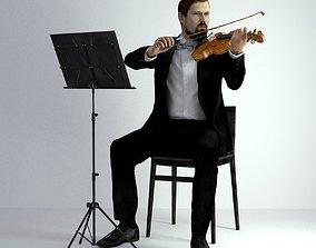 3D Scan Man Musician 031