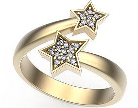 3D printable model Ring Stars