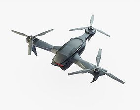 Sci-Fi Drone Animated 3D asset