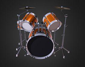 3D model Drum Set 5 Pc Complete Set Cymbals